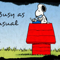 What's with all this busyness?