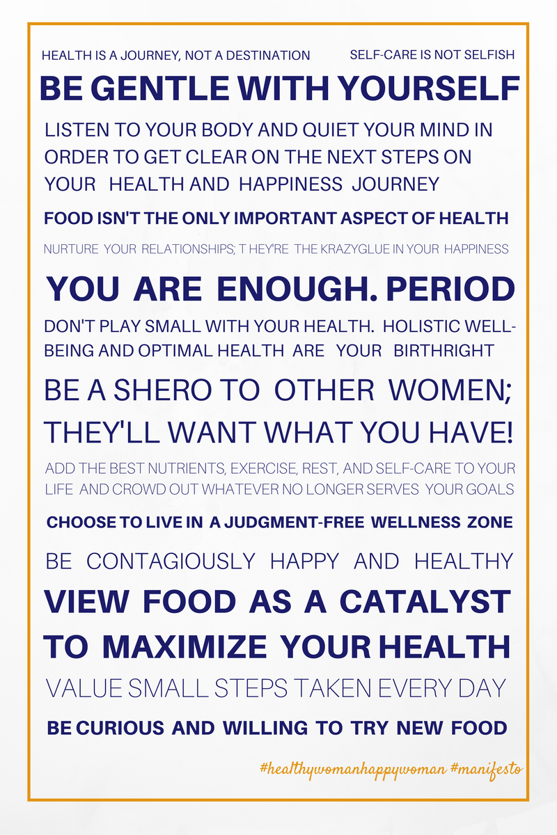 Healthy Woman Happy Woman Manifesto