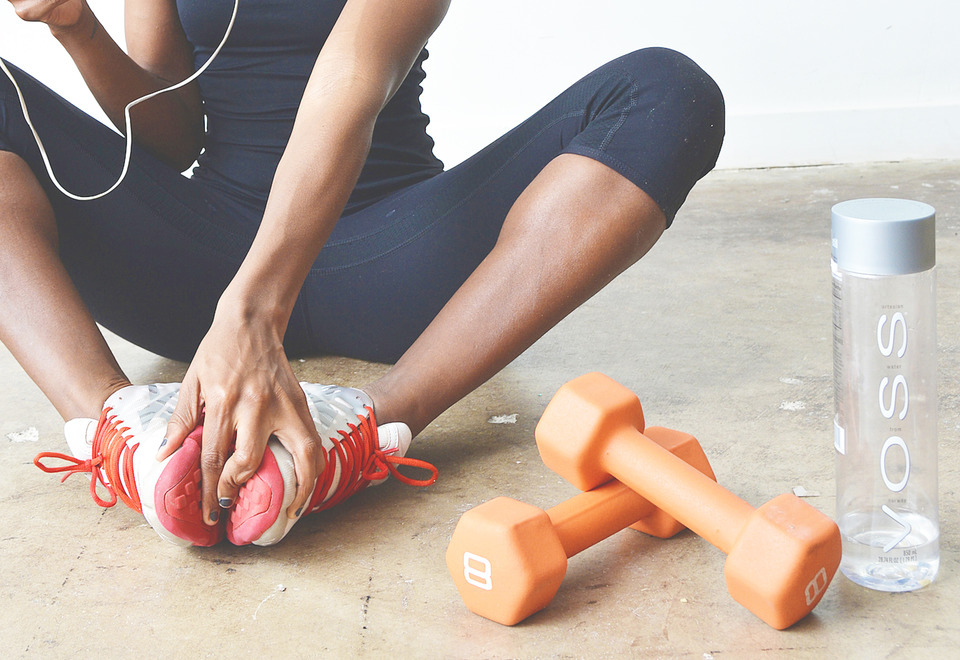 Image of woman about to exercise