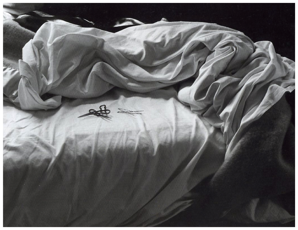 Image of an unmade bed