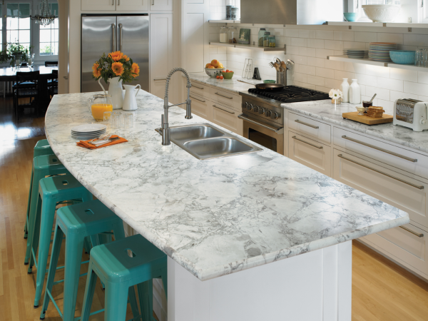image of a clean countertop for spring kitchen cleanup