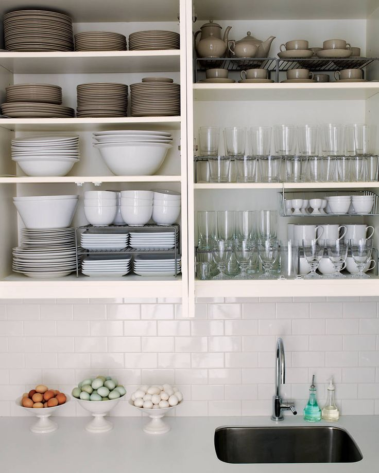 image of white cabinets in spring kitchen cleanup