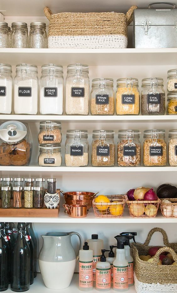 image of organized pantry after spring kitchen cleanup