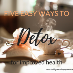 Five easy ways to detox for improved health