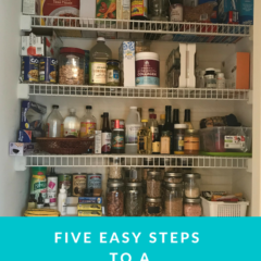 Five easy steps to a revamped pantry