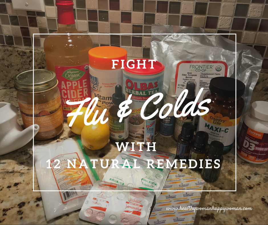 image of natural remedies to fight flu